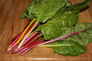 Here's some rainbow chard to sautee tonight. Yummm